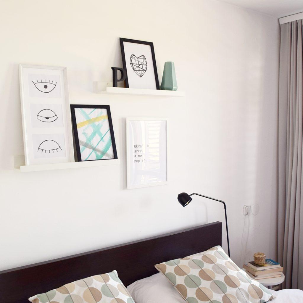 Galerija slika iznad kreveta